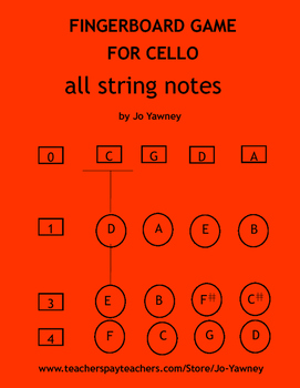 Cello Fingerboard Game