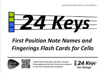 Cello Flash Cards - First Position