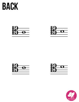 Cello Tenor Clef Range - Memory & Matching Card Game for Strings