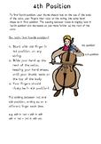 Cello techniques - 4th Position