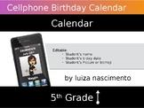 Cellphone B-day Calendar