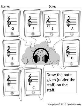 Cellphone Note Writing Worksheet