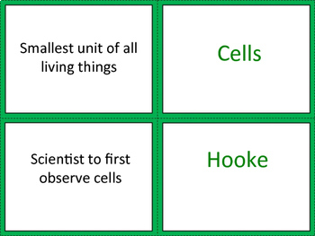 Cells Card Sort