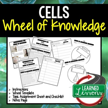 Cells Activity, Wheel of Knowledge Interactive Notebook
