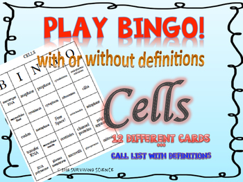 Cells BINGO! with and without definitions