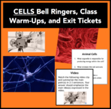Cells - Bell Ringers, Class Warm-Ups, and Exit Tickets