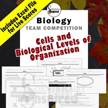 Cells & Bio. Levels of Org. - Editable Team Competition w/ LIVE Scoreboard