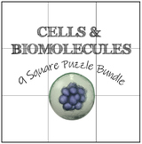 Cells & Biomolecules: 9 Square Puzzle Card Sort Bundle