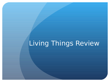 Organization of Living Things Review Powerpoint