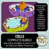 Cells Complete Bundle - PowerPoint Unit, INB, Task Cards,