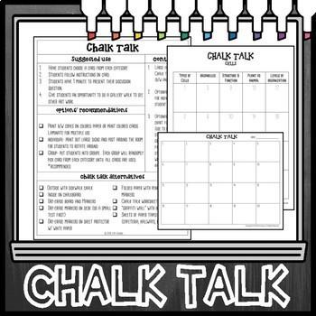 Cells Chalk Talk Task Cards