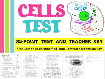 Cells Chapter Test for Biology Life Science