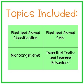 Cells, Classification, and Inheritance Review game