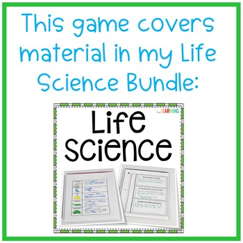 Life Science Review Game {Freebie}