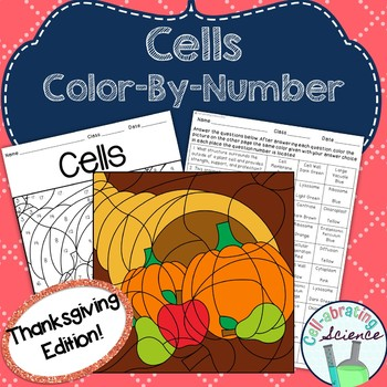Cells Color By Number **Thanksgiving Edition**