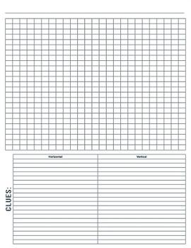 Cells Crossword Puzzle {Editable}