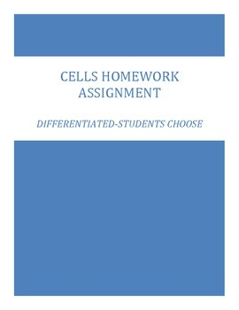 Cells Differentiated Homework Assignment