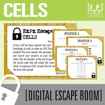 Cells Science Escape Room