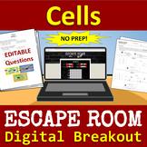 Science: Cells Escape Room - Digital Breakout - NO PREP!