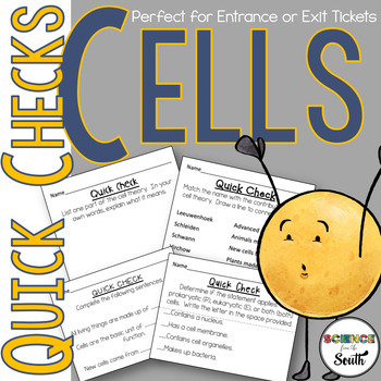 Cells Exit Ticket Printables Perfect For Middle and High S