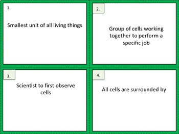 Cells Exit Tickets
