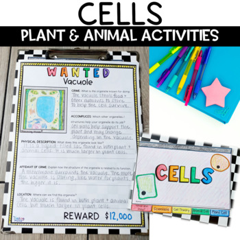 Plant and Animal Cells Flip Book Review Activity