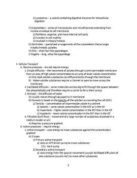 Cells - General Biology Outline and Handout