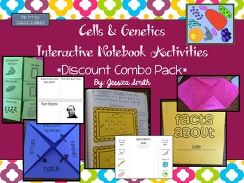 Cells and Genetics Interactive Notebook BUNDLE