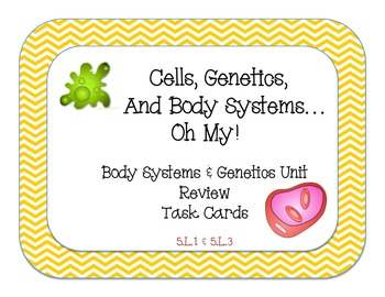 Cells, Genetics, and Body Systems... Oh My!  Hands On Task