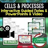 Cells Guided Notes PowerPoints NGSS, Life Science Biology