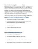 Cells Interactive Investigation Webquest