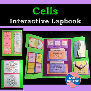 Cells Interactive Lapbook - Cell Diagrams and Theory, Organelles, etc.