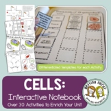 Cells Interactive Notebook Activities Bundle