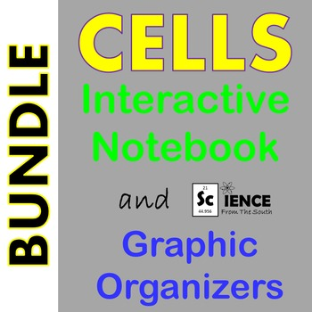 Cells Interactive Notebook and Graphic Organizers Bundle M