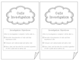 Cells Investigation Booklet