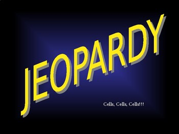 Cells Jeopardy Review Game!