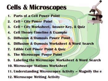 Cells & Microscope UNIT by Sweet D | Teachers Pay Teachers