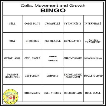 Cells, Movement and Growth BINGO