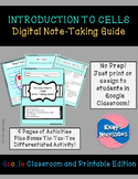 Cells Digital Note-Taking Guide for Google Classroom and P