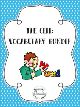 Cells (Organelles) Vocabulary Bundle