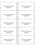 Cells/Organisms Flash Cards