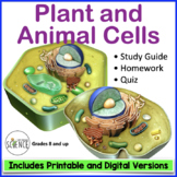 Cells (Plant and Animal) Quiz / Homework / Review