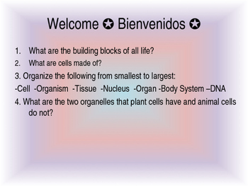 Cells Review Powerpoint