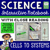 Cells - Science Interactive Notebook with Close Reading Passages