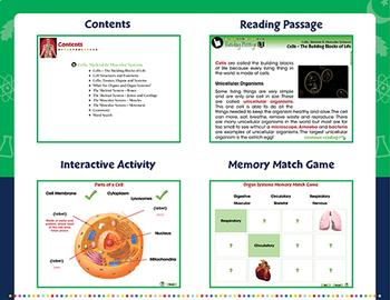 Cells, Skeletal & Muscular Systems - NOTEBOOK Gr. 3-8