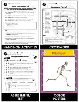 Cells, Skeletal & Muscular Systems: The Skeletal System - Bones Gr. 5-8