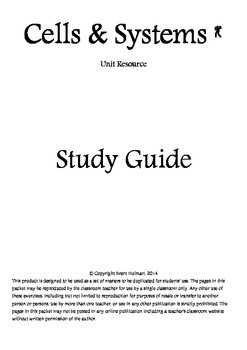 Cells & Systems Study Guide