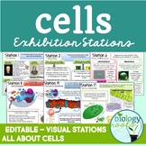 Cells Task Cards- Exhibition Stations