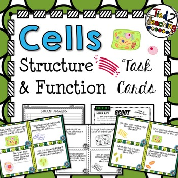 Cells Task Cards