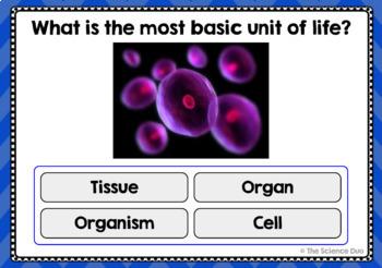 Cells Task Cards - Digital Boom Cards™